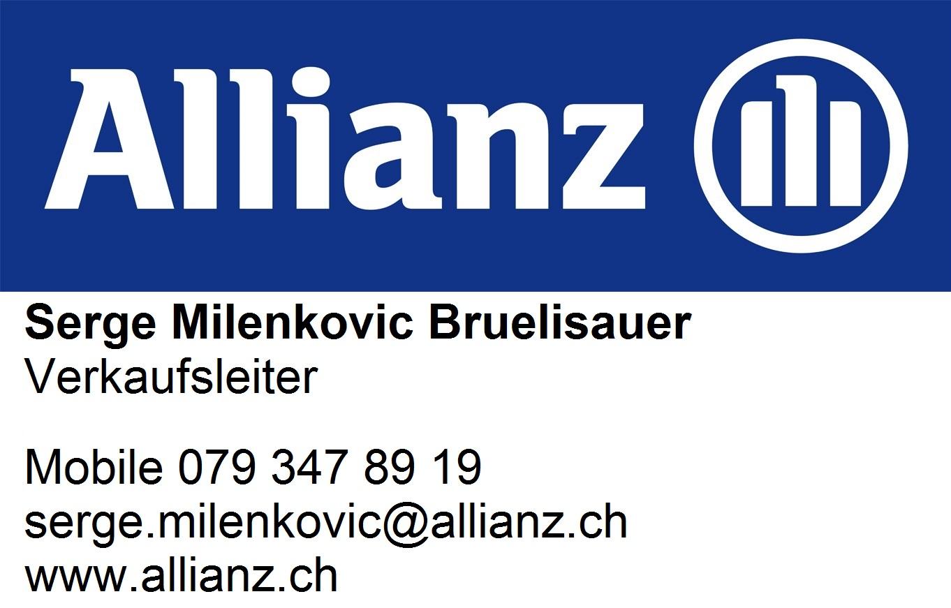 Logo ALLIANZ Suisse Serge Milenkovic